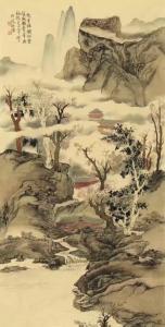 侯峻山国画作品《仙云》价格15000.00元
