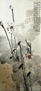 李明成国画作品《写意荷花》价格8000.00元