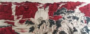 赵仲谋国画作品《万里江山红遍》价格50000.00元