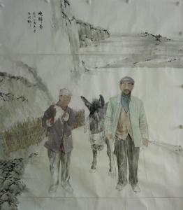 李贺国画作品《晚归图》价格10000.00元