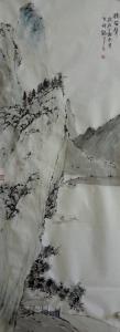 李贺国画作品《读笛声》价格2000.00元