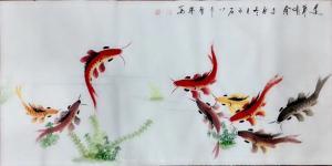 李尊荣国画作品-《连年有鱼》