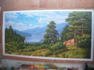 罗鸿羽油画作品《风景油画》价格2800.00元