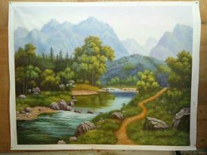 罗鸿羽油画作品《油画《故乡》》价格2800.00元