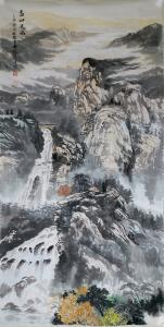 张喜才国画作品《高山流水》价格1200.00元