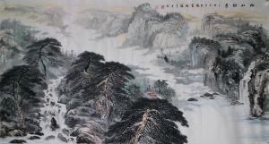 张喜才国画作品《松山竞秀》价格2600.00元