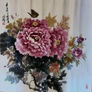 李同辉国画作品《牡丹【天香】》价格1500.00元