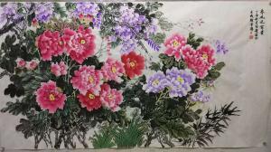 李国庆国画作品-《春风送富贵》