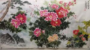 李国庆国画作品《春风送富贵》价格300.00元