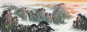 胡汉春国画作品《刘一民泰山》议价
