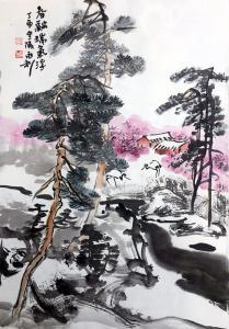 赵永利国画作品《春融瑞气浮》价格400.00元