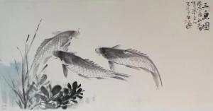 张大石国画作品《三鱼图》价格480.00元