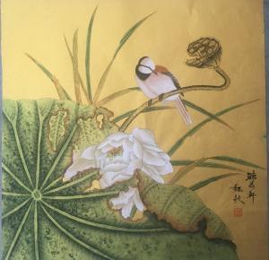 魏钦国画作品《荷香》价格860.00元