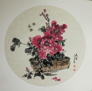 陈子华国画作品《牡丹》价格300.00元