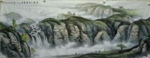 卢俊良国画作品《太行三月春来早》价格2000.00元