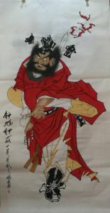 魏建军国画作品《钟馗神威》价格1800.00元