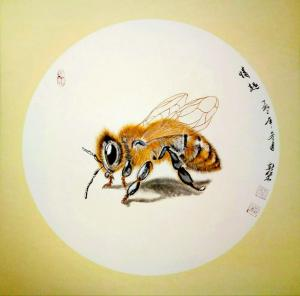 马新荣国画作品《蜜蜂》价格1000.00元