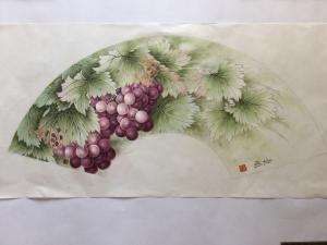 崔英阁国画作品《扇面 硕果图》价格1800.00元