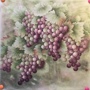崔英阁国画作品《硕果图》价格15000.00元