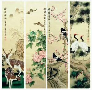 刘永红国画作品《福禄寿喜》议价