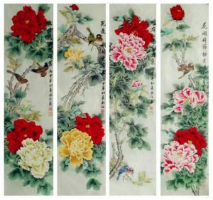 刘永红国画作品《花开富贵》议价