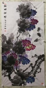 韩宗华国画作品《紫气东来》价格4000.00元