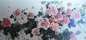 李国庆国画作品-《牡丹》