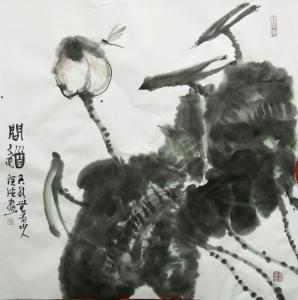 胡小炜(润德)国画作品《问道》价格6000.00元