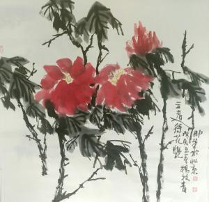 杨牧青国画作品《待艳》价格4500.00元