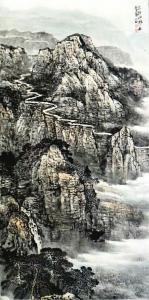 蔡永田国画作品《太行山路》价格1000.00元