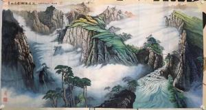 赵德锁国画作品《青山不老的绿水长流》价格10000.00元