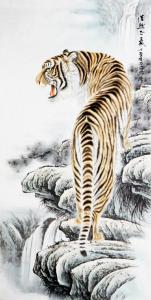 石海博国画作品《虎 王者之风》价格1280.00元