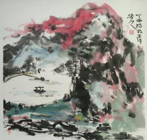 杨牧青国画作品《逰记》价格8000.00元