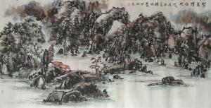 杨牧青国画作品《写意山水》价格130000.00元