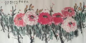 杨牧青国画作品《大写意牡丹》价格9000.00元
