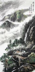 刘洪彬国画作品《巅上多白云》价格12000.00元
