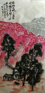 杨牧青国画作品《山水》价格50000.00元