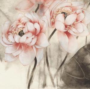逸品莲堂-卢梦阳国画作品《荷荷美美》价格9000.00元