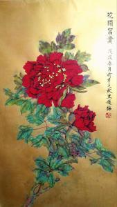 赵梅国画作品《花开富贵》价格28000.00元
