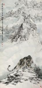 石川国画作品《千里冰封万里雪飘》议价