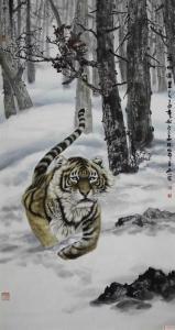 石川国画作品《雄风万里》议价