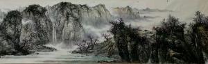 于立江国画《三月芳菲满山崖》