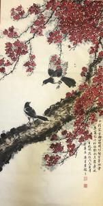 石广生国画作品《三角梅》议价