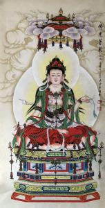 王丁国画作品《佛光普照》价格3000.00元