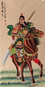 王丁国画作品《关羽》价格1500.00元