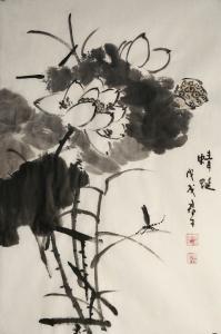 田君才国画作品《蜻蜓》价格2600.00元