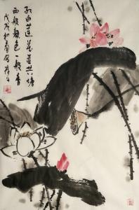 田君才国画作品《莲花》价格2600.00元