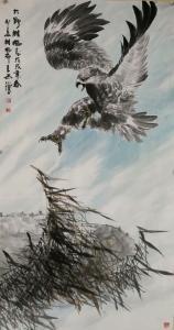 石川国画作品《大野雄风》议价