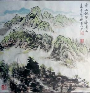 邓烈根国画作品《青山依旧春常在》议价