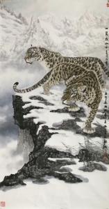 石川国画作品《一览众山小》议价